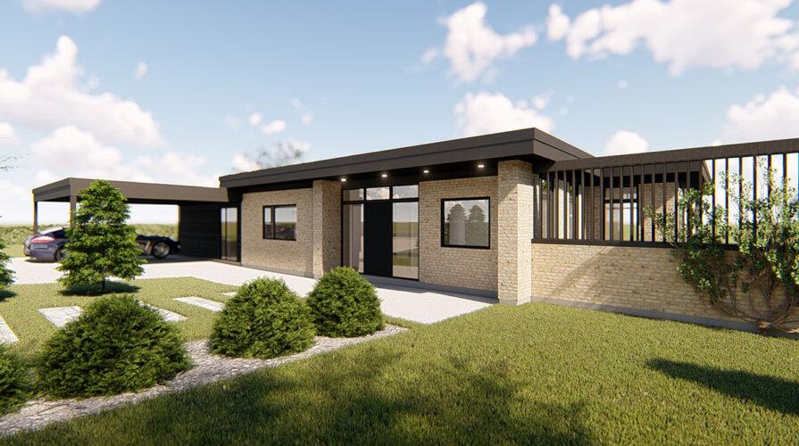 Villa Paulin arkitekttegnet projektforslag